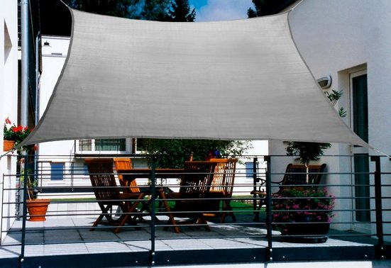 FLORACORD Sonnensegel , BxL: 270x140 cm, grau