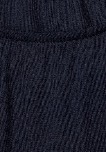 Cecil Blusenkleid, unifarben, mit Schlitz an Schulter