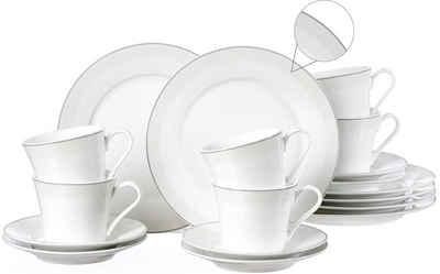 Ritzenhoff & Breker Kaffeeservice »Venezia« (18-tlg), Porzellan, puristisches Design