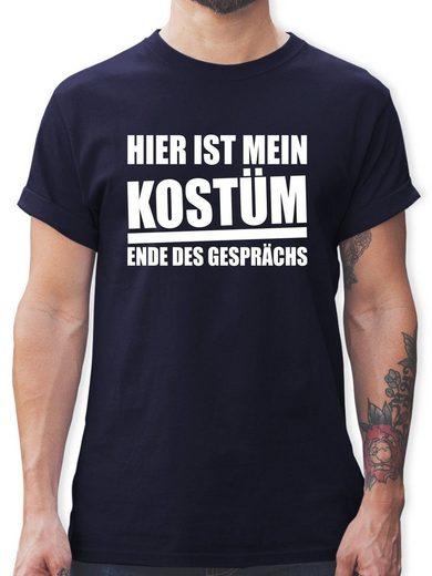 Shirtracer T-Shirt »Hier ist mein Kostüm. Ende des Gesprächs - weiß - Herren Premium T-Shirt«
