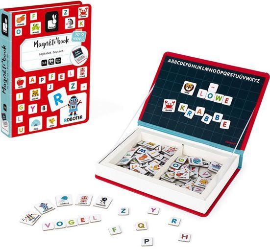 Janod Lernspielzeug »Magnetbuch - Alphabet«