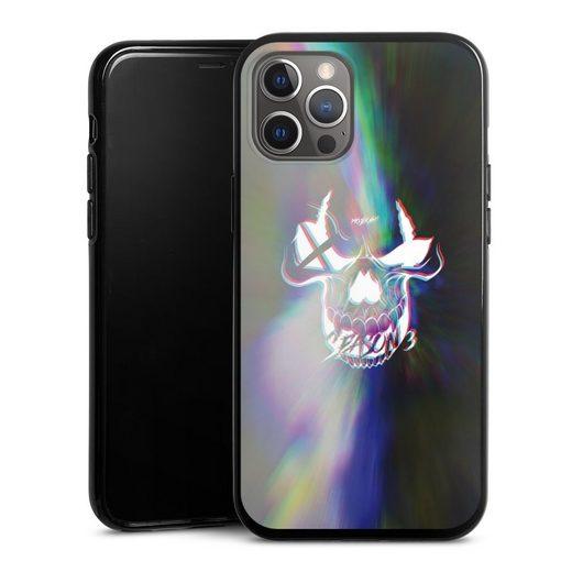 DeinDesign Handyhülle »glitch Skull« Apple iPhone 12 Pro Max, Hülle Totenkopf Moji Youtube