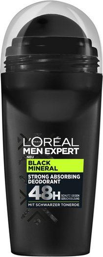 L'ORÉAL PARIS MEN EXPERT Deo-Roller »Black Mineral«, absorbierender Schutz gegen Gerüche, ohne Aluminium