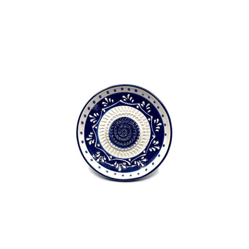 Kaladia Multireibe »Reibeteller in blau und weiß«, Keramik, handbemalte Küchenreibe - Made in Spain