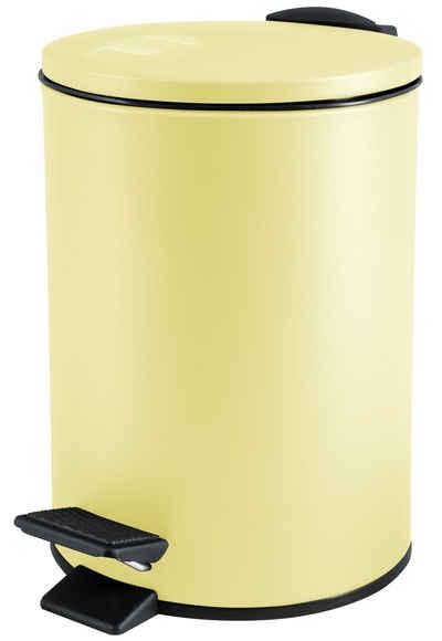 spirella Kosmetikeimer »ADELAR«, Treteimer mit Softclose-Absenkautomatik, herausnehmbarem Inneneimer, Anti-Fingerprint-Beschichtung, 3L, gelb
