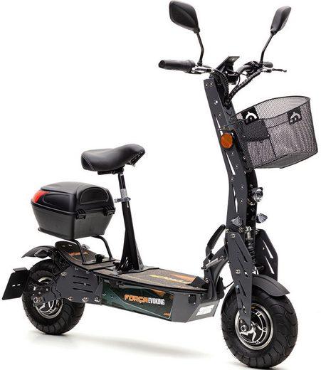 Forca E-Scooter »Evoking 45 km/h Safety (inkl. Blinker + Gepäck-Case)«, 1000 W, 45 km/h