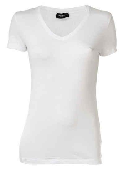 Emporio Armani T-Shirt »Damen T-Shirt - V-Neck, Loungewear, Kurzarm,«
