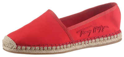 Tommy Hilfiger »TH SIGNATURE ESPADRILLE« Espadrille in schmaler Schuhweite, mit seitlichem Logoschriftzug