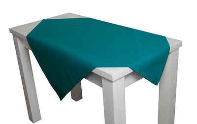 beties Mitteldecke »Farbenspiel«, ca. 80x80 cm Tischdecke in interessanter Größen- und Farbauswahl 100% Baumwolle für eine fröhlich Stimmung Uni Farbe (Petrol)