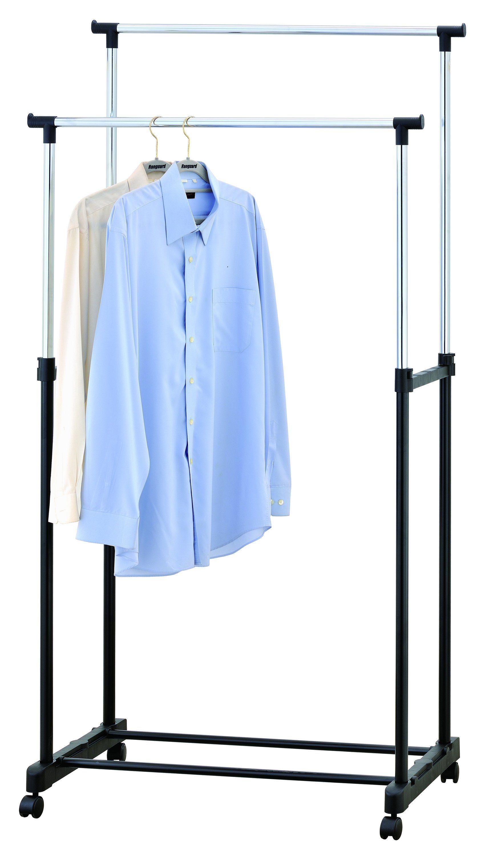 HTI-Line Doppel-Kleiderständer »Sizilia«   Flur & Diele > Garderoben > Garderobenständer   Schwarz   Kunststoff - Metall   HTI-Line