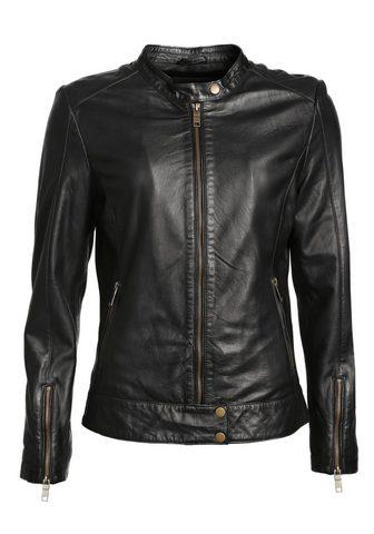 JCC Куртка кожаная в Bikerstil с воротник ...