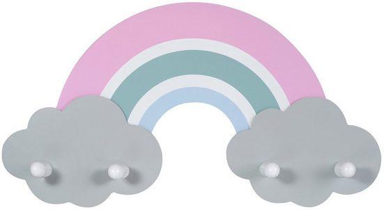Kindsgut Garderobe (1 Stück), Regenbogen-Garderobe für Kinder, Amelie, Holz, Kleidung, Bekleidung, für Mädchen und Jungen, getestet, umweltfreundlich