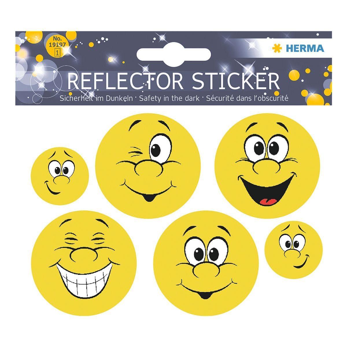 HERMA Reflektorsticker »Happy Face«