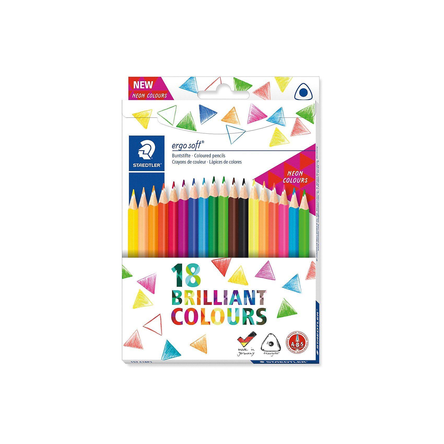 STAEDTLER Buntstifte ergo soft, 18 Farben
