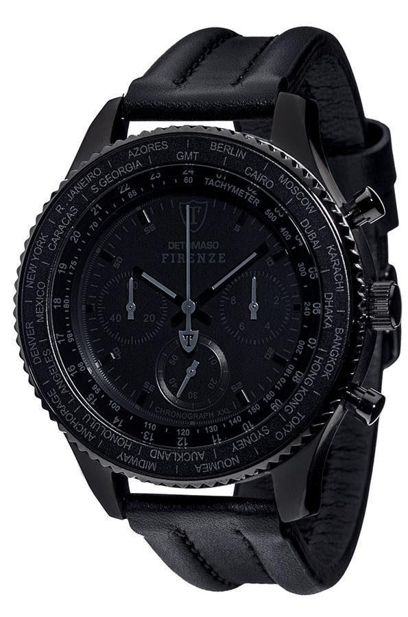 Detomaso Chronograph »FIRENZE BLACK XXL«