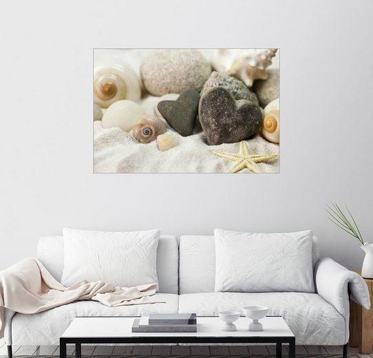 Posterlounge Wandbild - Andrea Haase Foto »Strandherz«