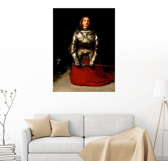 Posterlounge Wandbild - Sir John Everett Millais »Jeanne d´Arc«