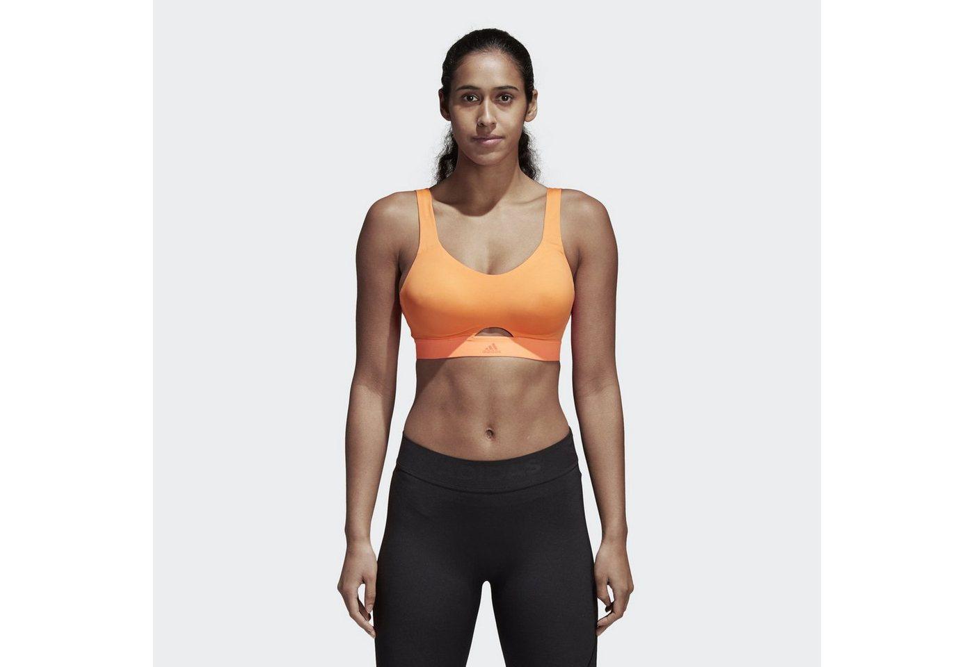 Damen adidas Performance Sport-BH Stronger For It Soft Sport-BH orange   04059322049231