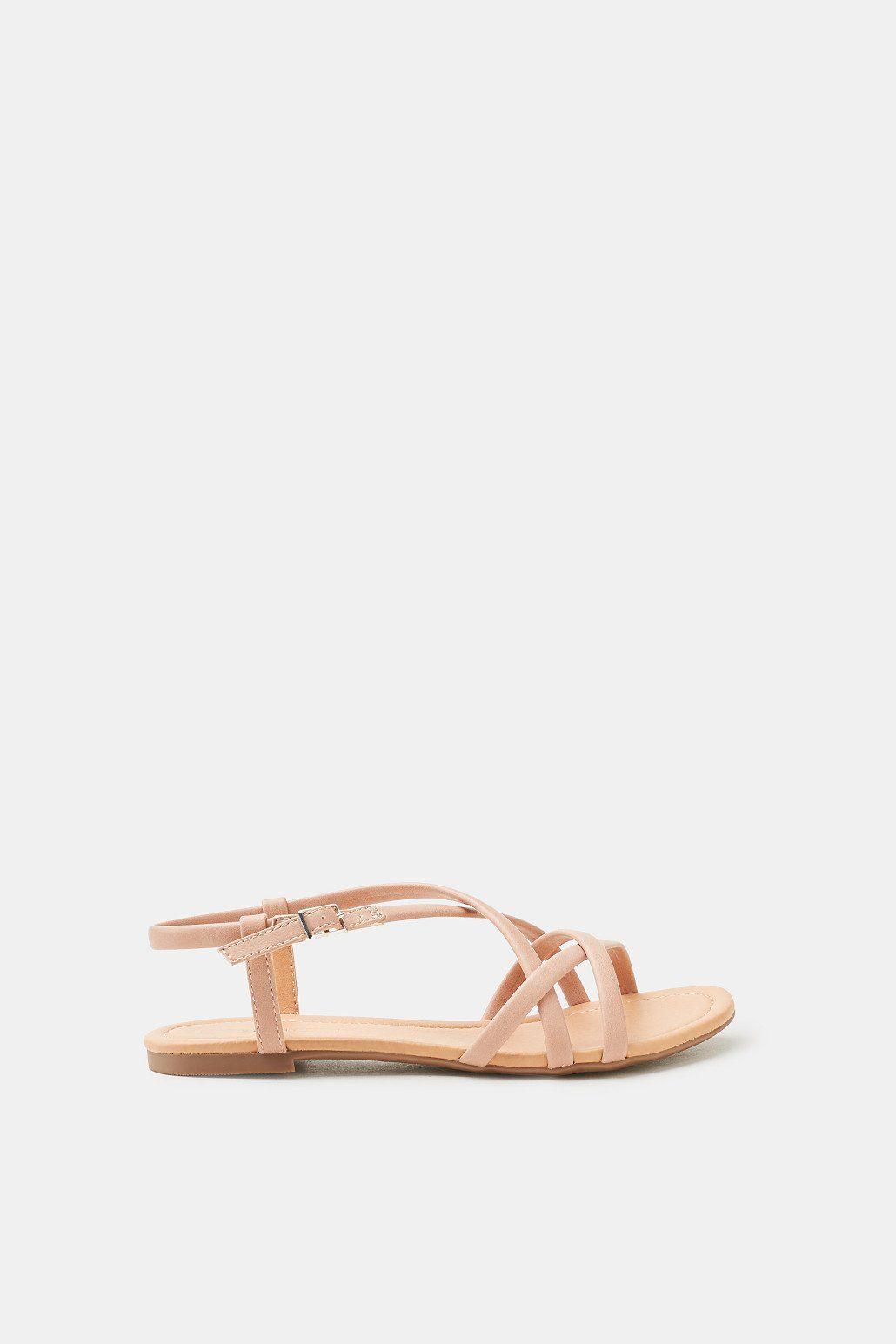 ESPRIT Flache Riemchen-Sandalette, VEGAN kaufen  NUDE