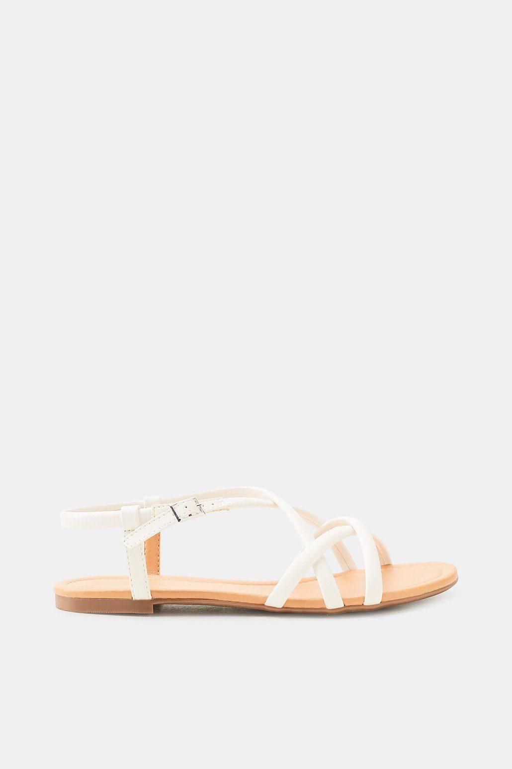 Esprit Flache Riemchen-Sandalette, VEGAN für Damen, Größe 37, Black