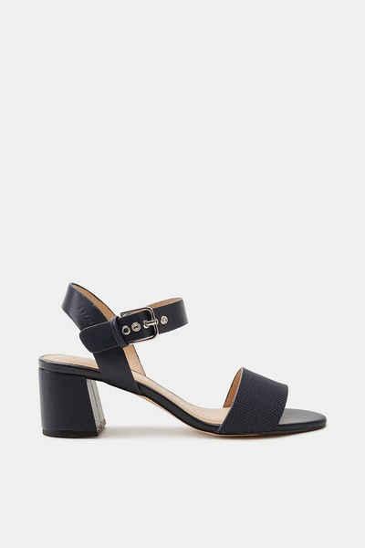 Esprit Sandalette mit funkelndem Glitter für Damen, Größe 39, Beige
