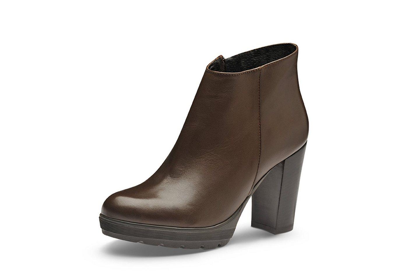 Evita »UBALDA« Plateaustiefelette   Schuhe > Stiefeletten > Plateaustiefeletten   Braun   Leder   Evita