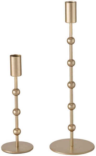 BOLTZE Kerzenleuchter »Kimberly« (Set, 2 Stück), aus Eisen, Höhe ca. 20 cm und 30 cm