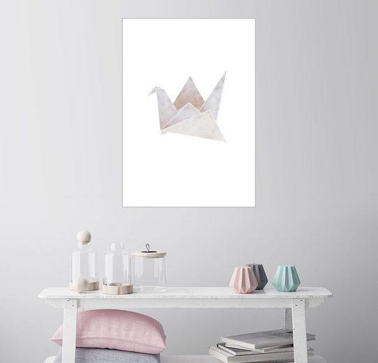 Posterlounge Wandbild - Amy and Kurt Berlin »Origami Kranich«
