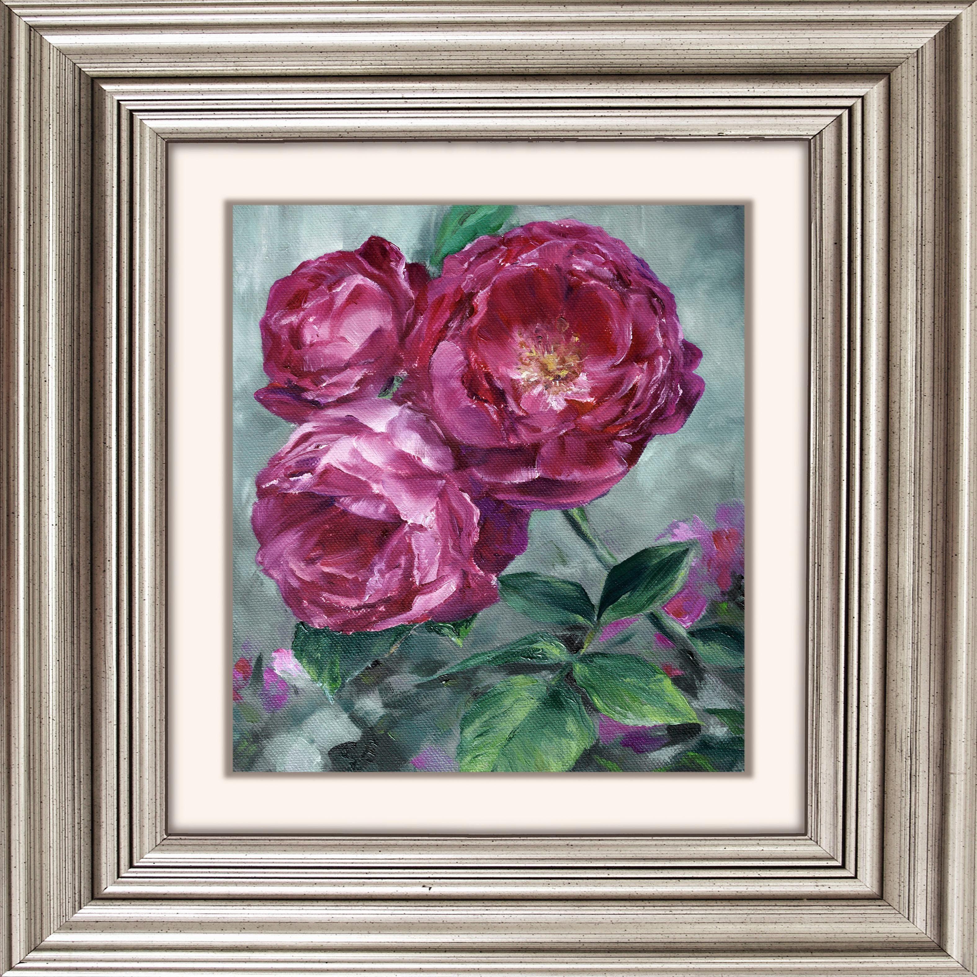 Acrylglasbild »Pinke Blüten«