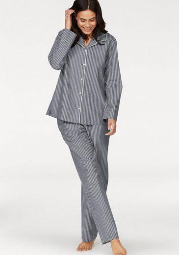 seidensticker Pyjama, mit Längsstreifen
