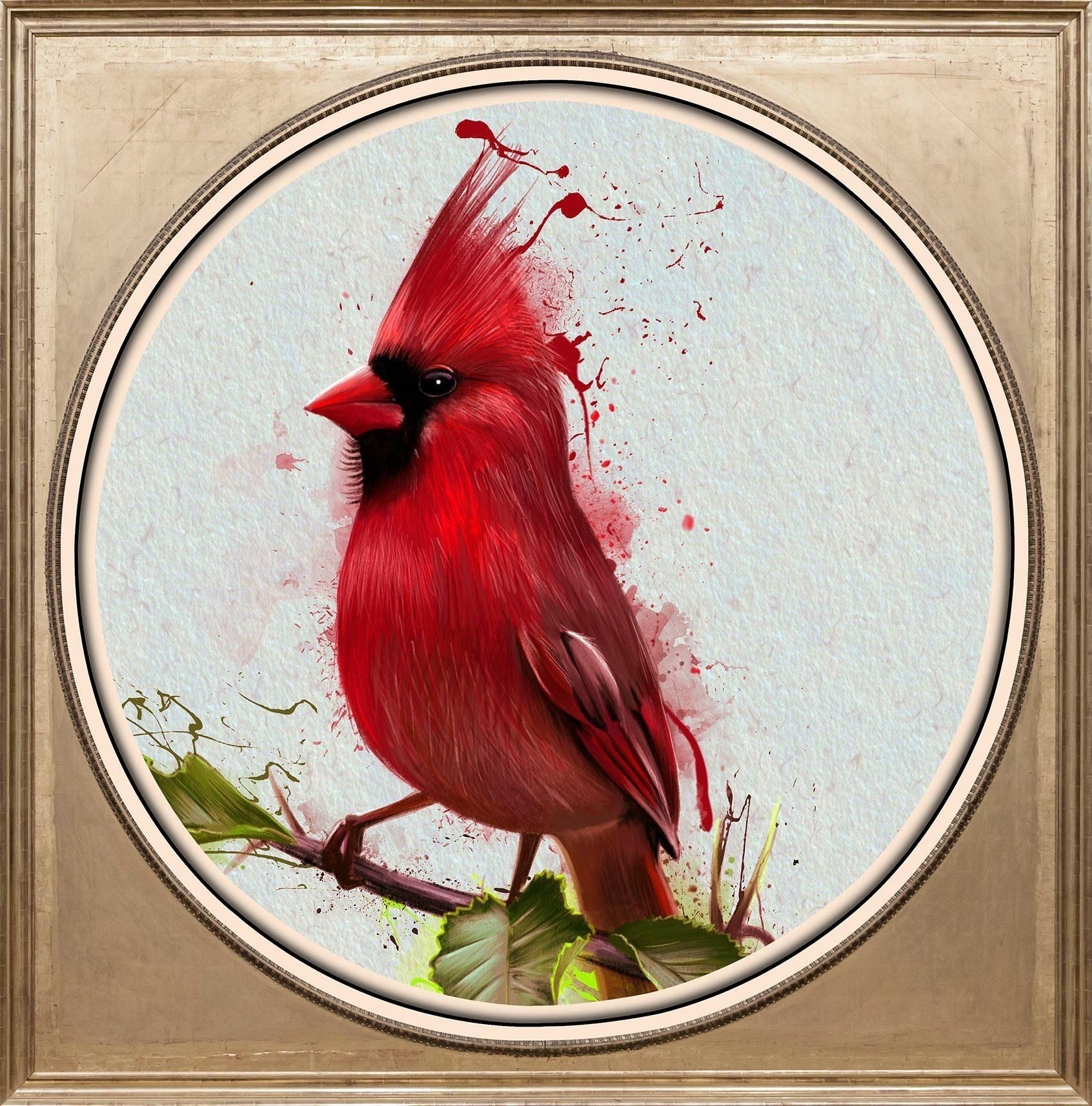 Acrylglasbild »Roter Vogel«