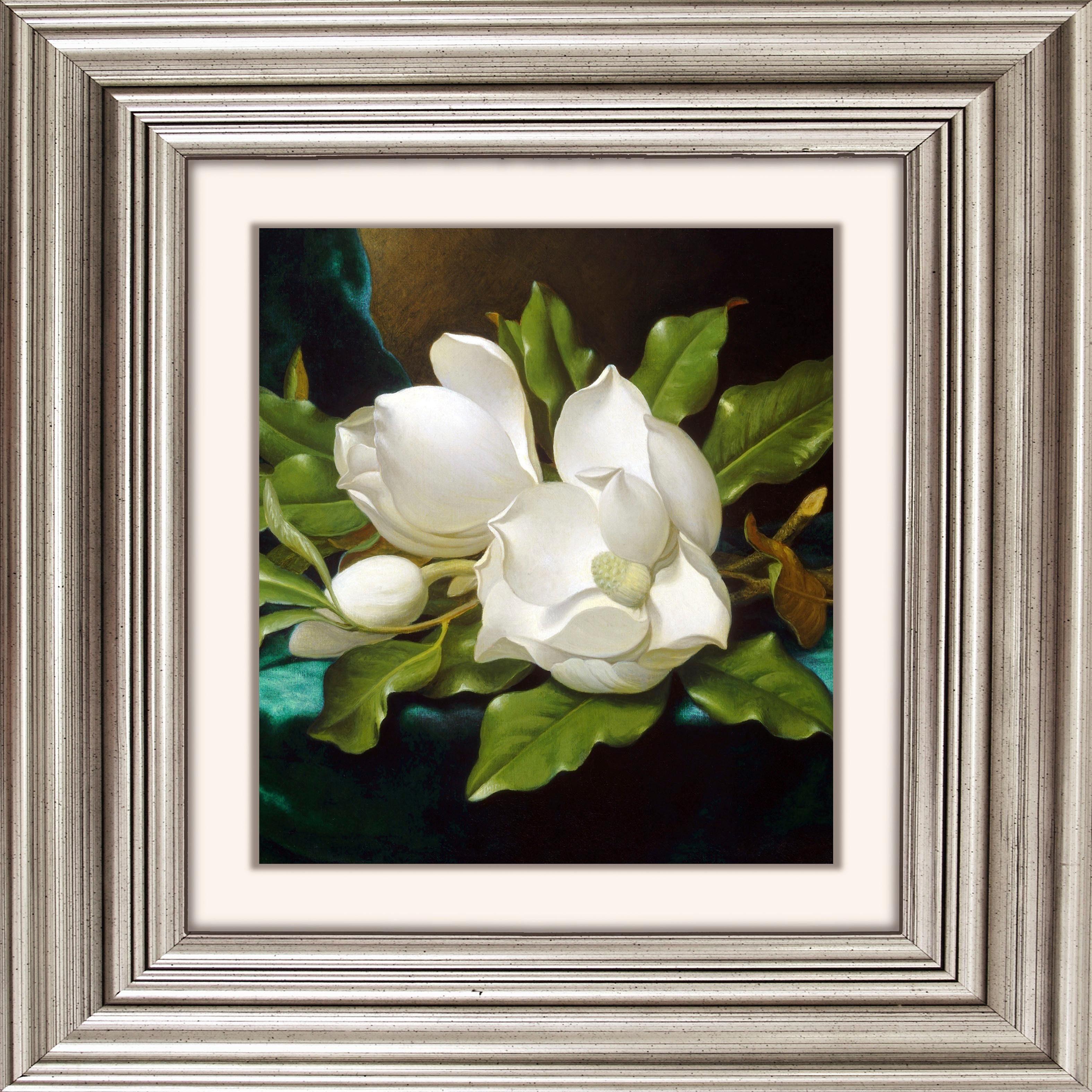 Acrylglasbild »Weiße Blüten«