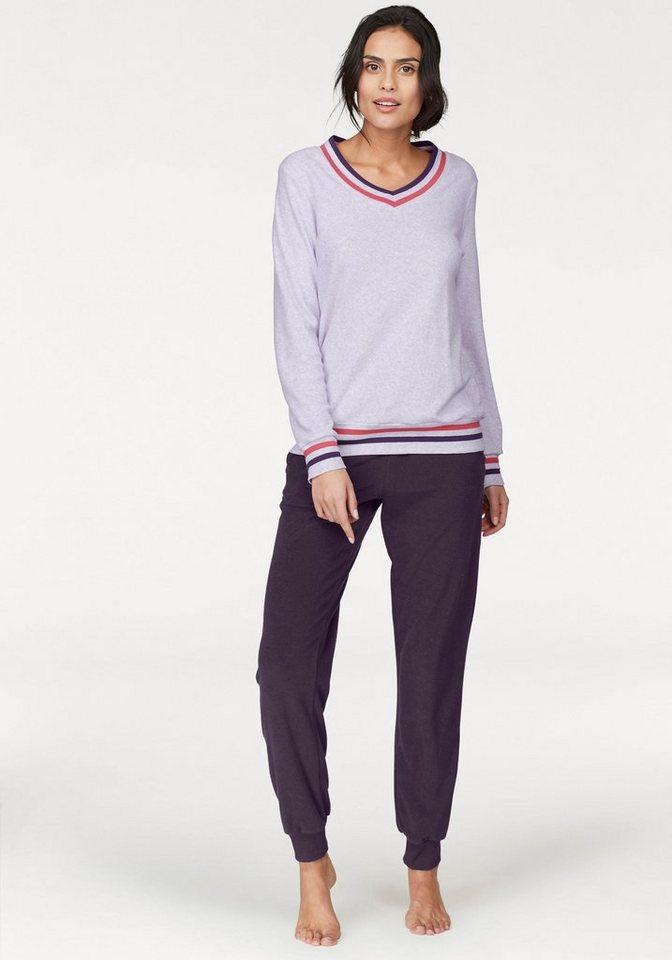 online store 9ea4a 53661 Schiesser Pyjama, aus Frottee mit gestreiften Bündchen online kaufen | OTTO