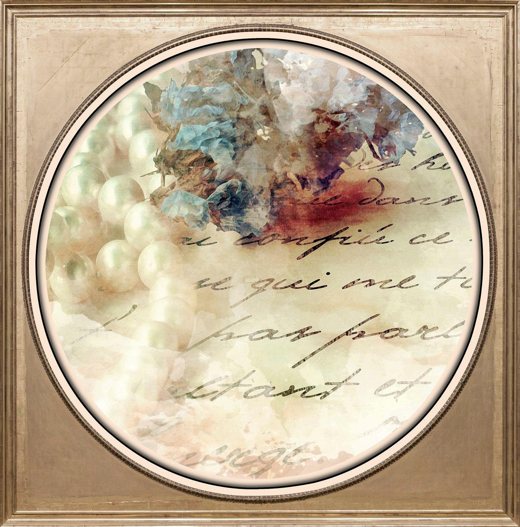 Acrylglasbild »Alter Brief«