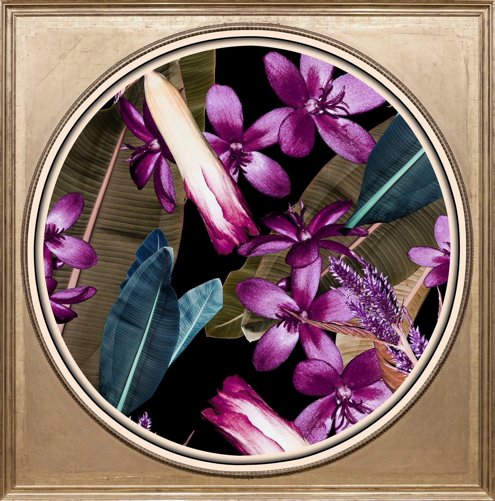 Acrylglasbild »Tropische Blüten«