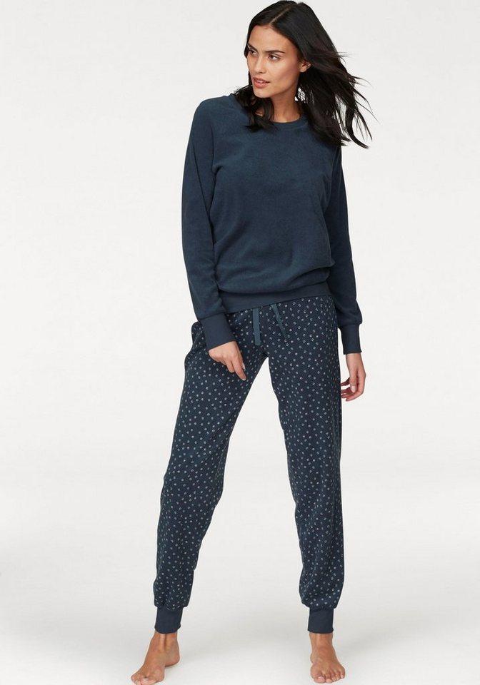 buy popular 65e36 e87ef Schiesser Pyjama, aus Frottee mit gemusterter Hose | OTTO