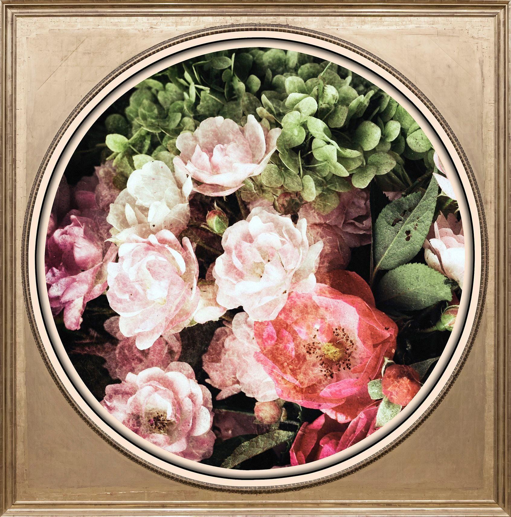Acrylglasbild Bunter Blumenstrauß I