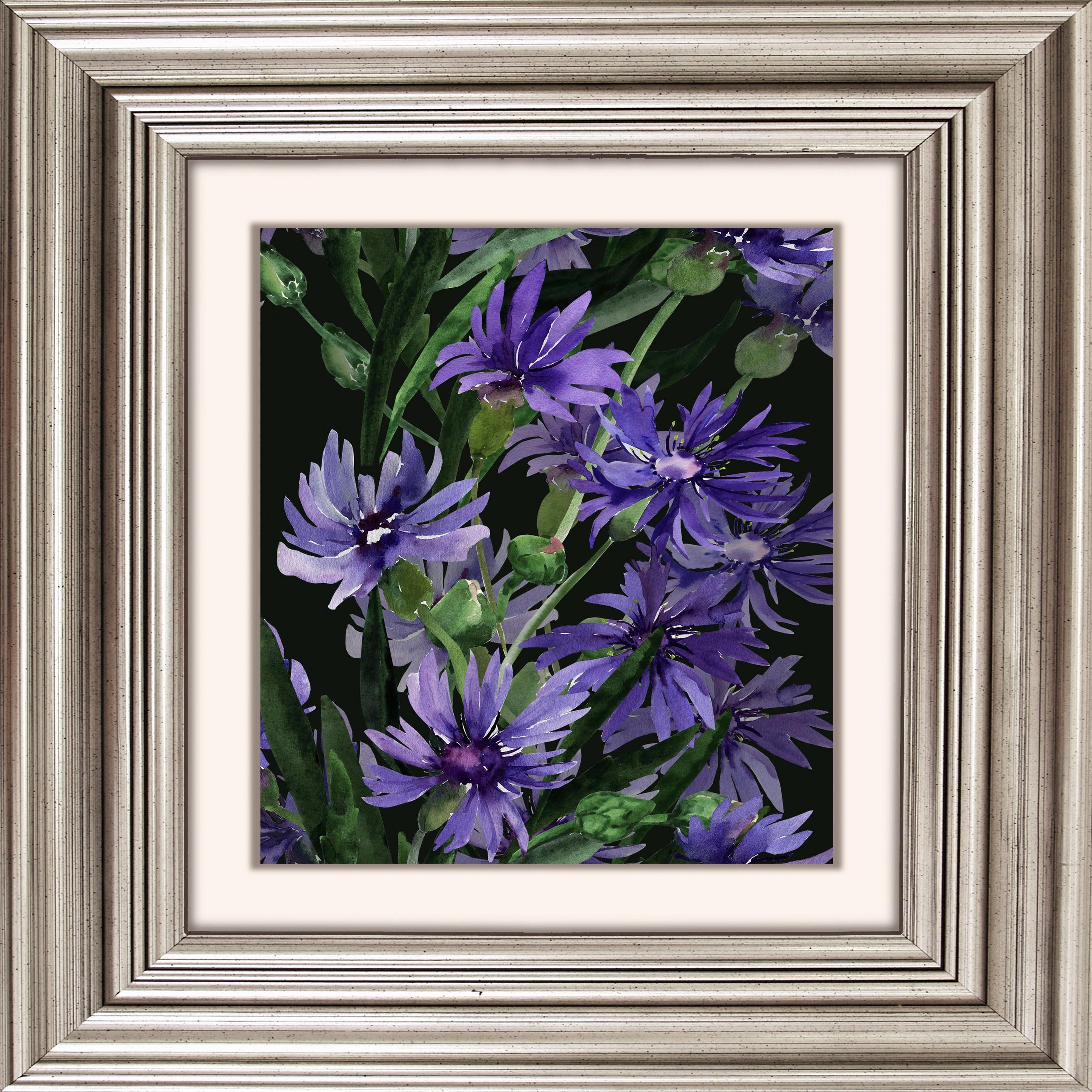 Acrylglasbild »Lila Blüten«