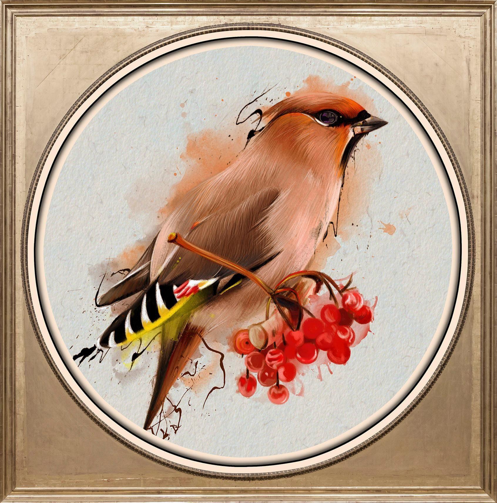 Acrylglasbild »Bunter Vogel I«