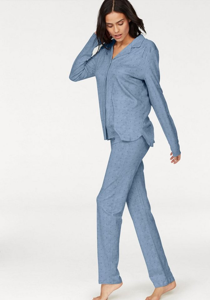 premium selection 5755a fa903 Schiesser Pyjama, in klassischer Form mit Knopfleiste und Kragen online  kaufen | OTTO