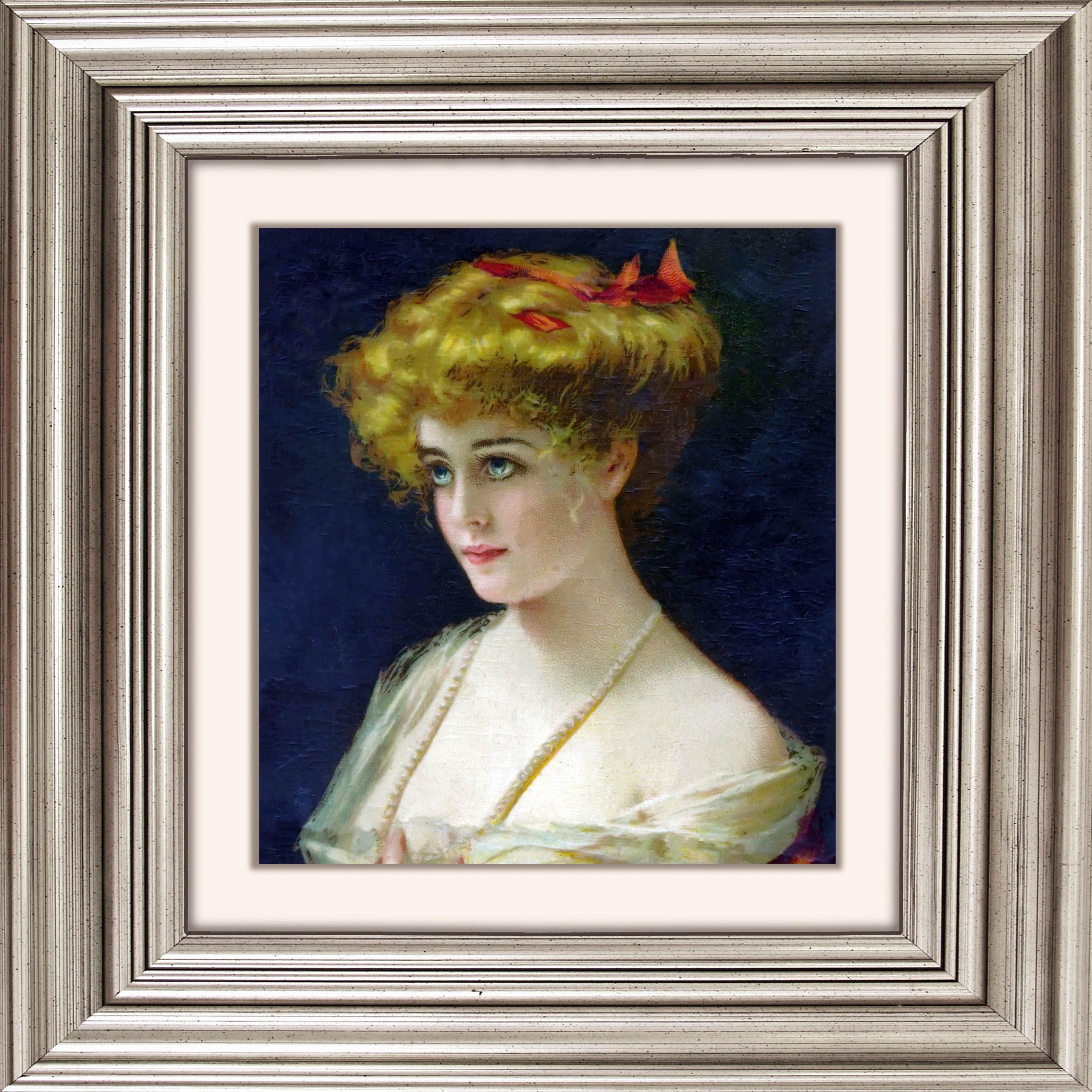 Acrylglasbild Frau I