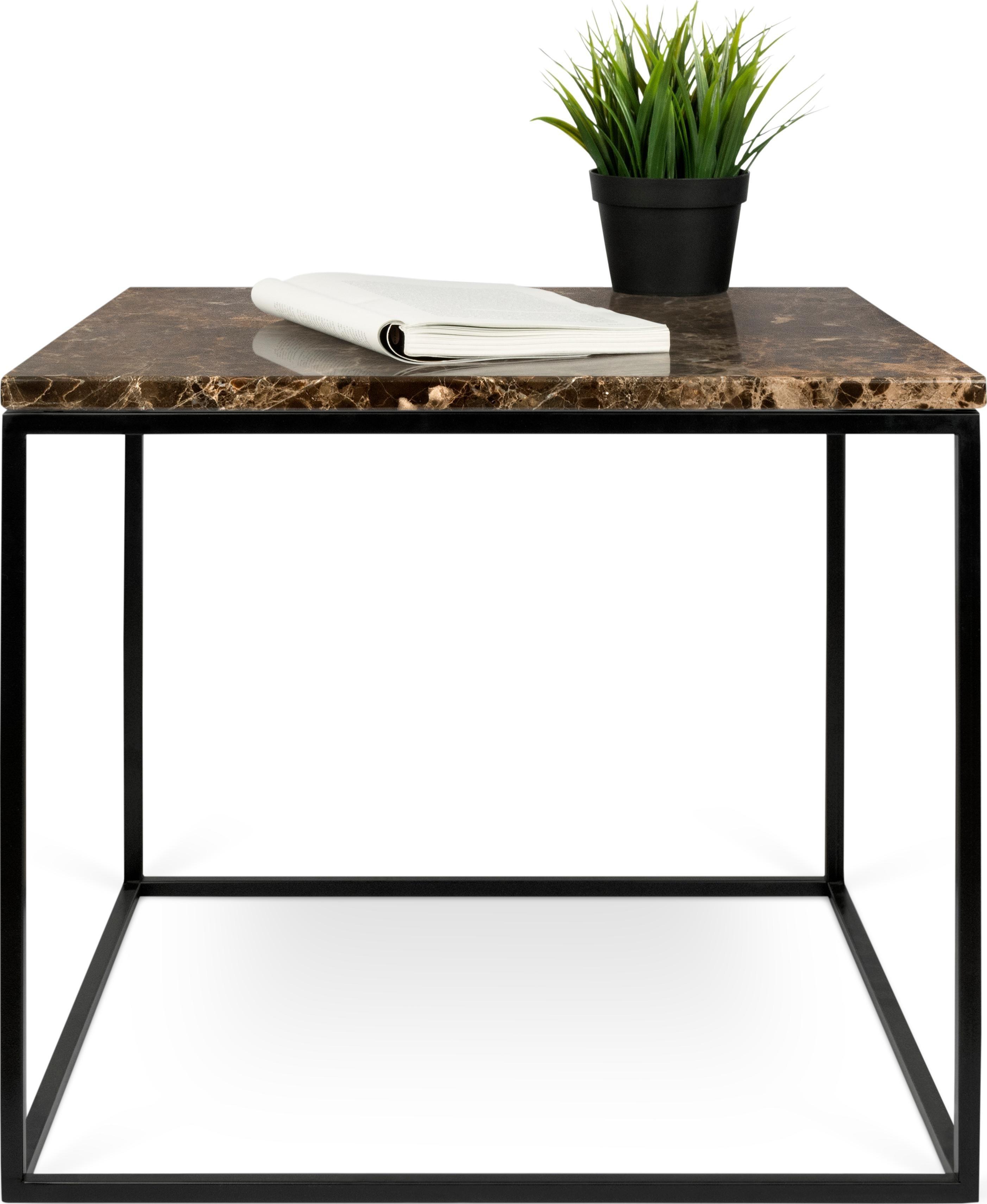 Couchtisch »Gleam« der Marke INOSIGN, mit Mamorplatte und schwarzem Metallgestell, Breite 50 cm | Wohnzimmer > Tische > Couchtische | INOSIGN