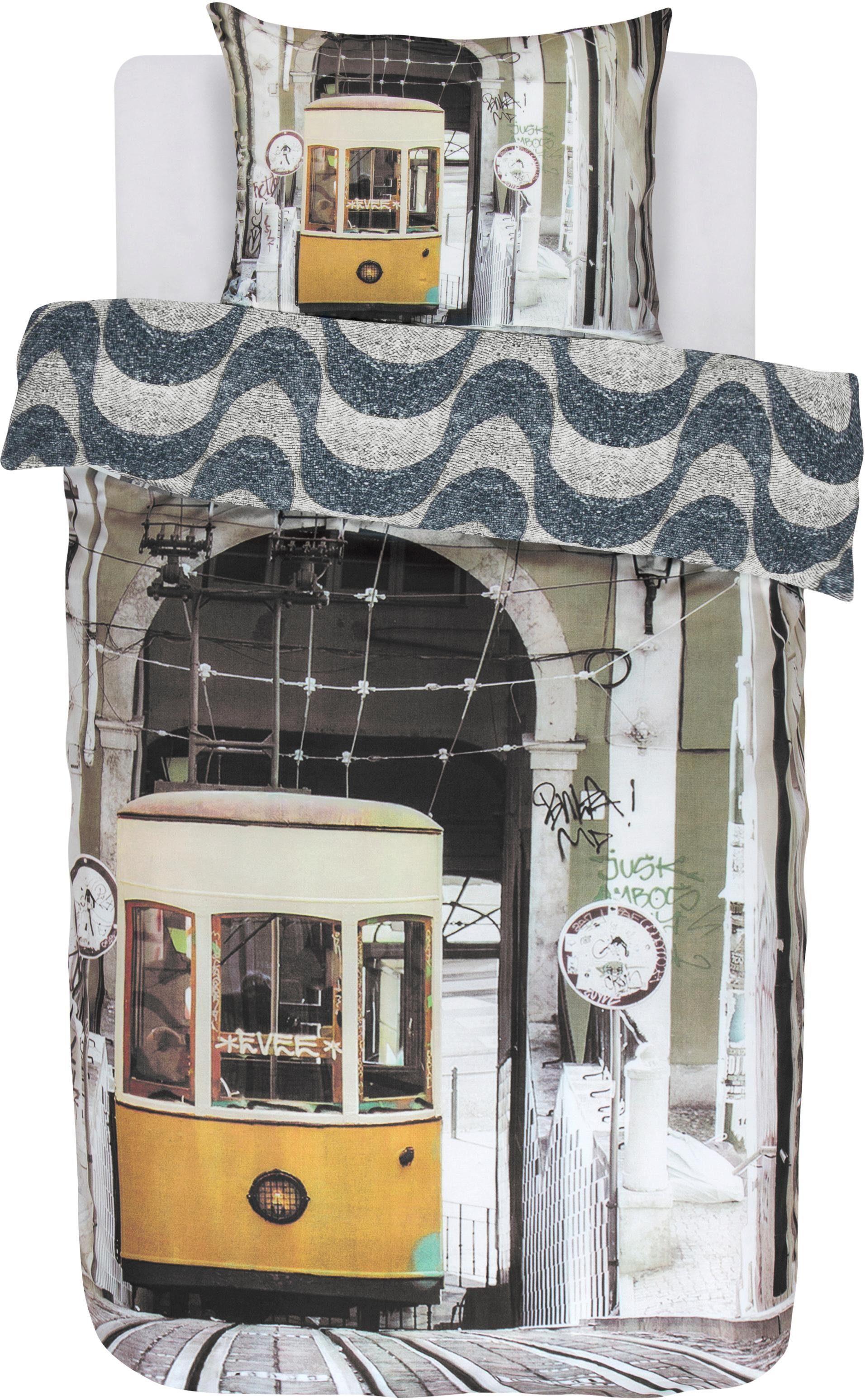 Jugendbettwäsche »Lisboa«, Covers & Co, mit Straßenbahn