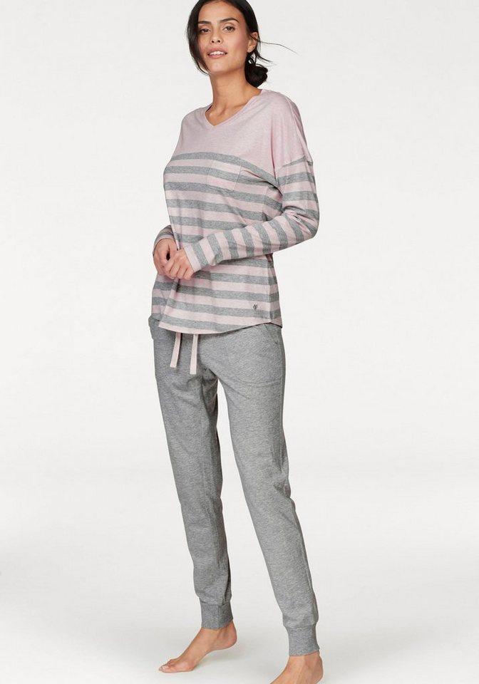 cheap for discount 1f87b 0a2b4 Marc O'Polo Pyjama, mit gestreiftem Oberteil   OTTO