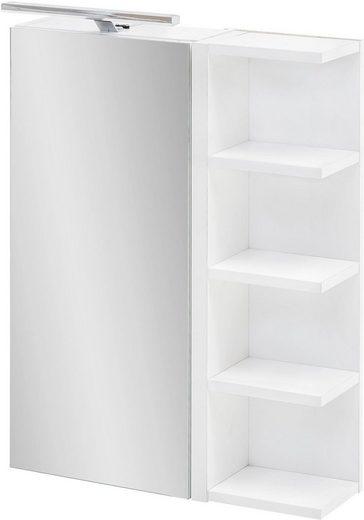 Schildmeyer Spiegelschrank »Esther« Breite 50 cm, 1-türig, LED-Beleuchtung, Schalter-/Steckdosenbox, Glaseinlegeböden, 4 Regalfächer, Made in Germany