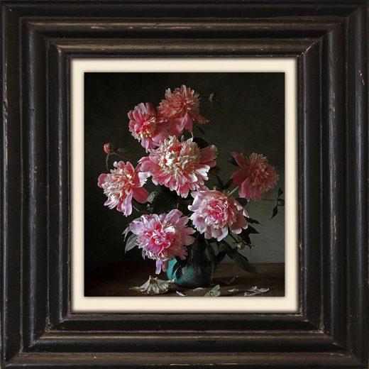 Holzbild »Pinke Blüten«