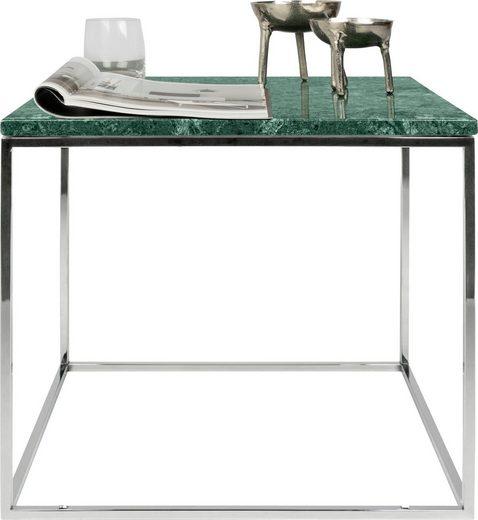 TemaHome Couchtisch »Gleam«, mit Mamorplatte und silbernen Chromegestell, Breite 50 cm