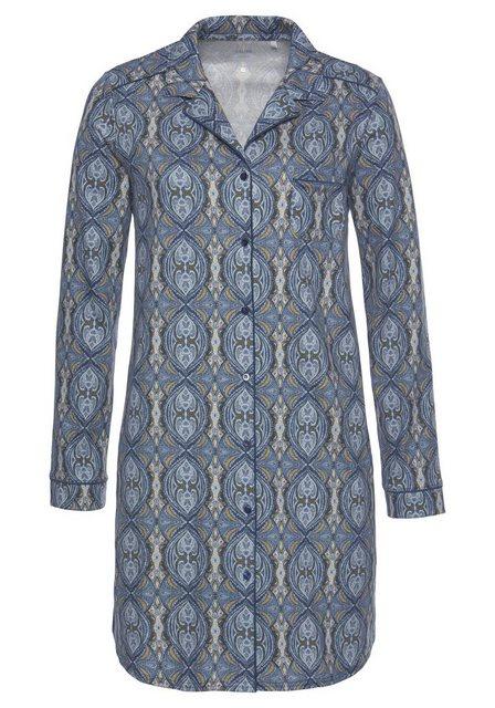 Calida Nachthemd in klassischem Schnitt mit feinem Paisley