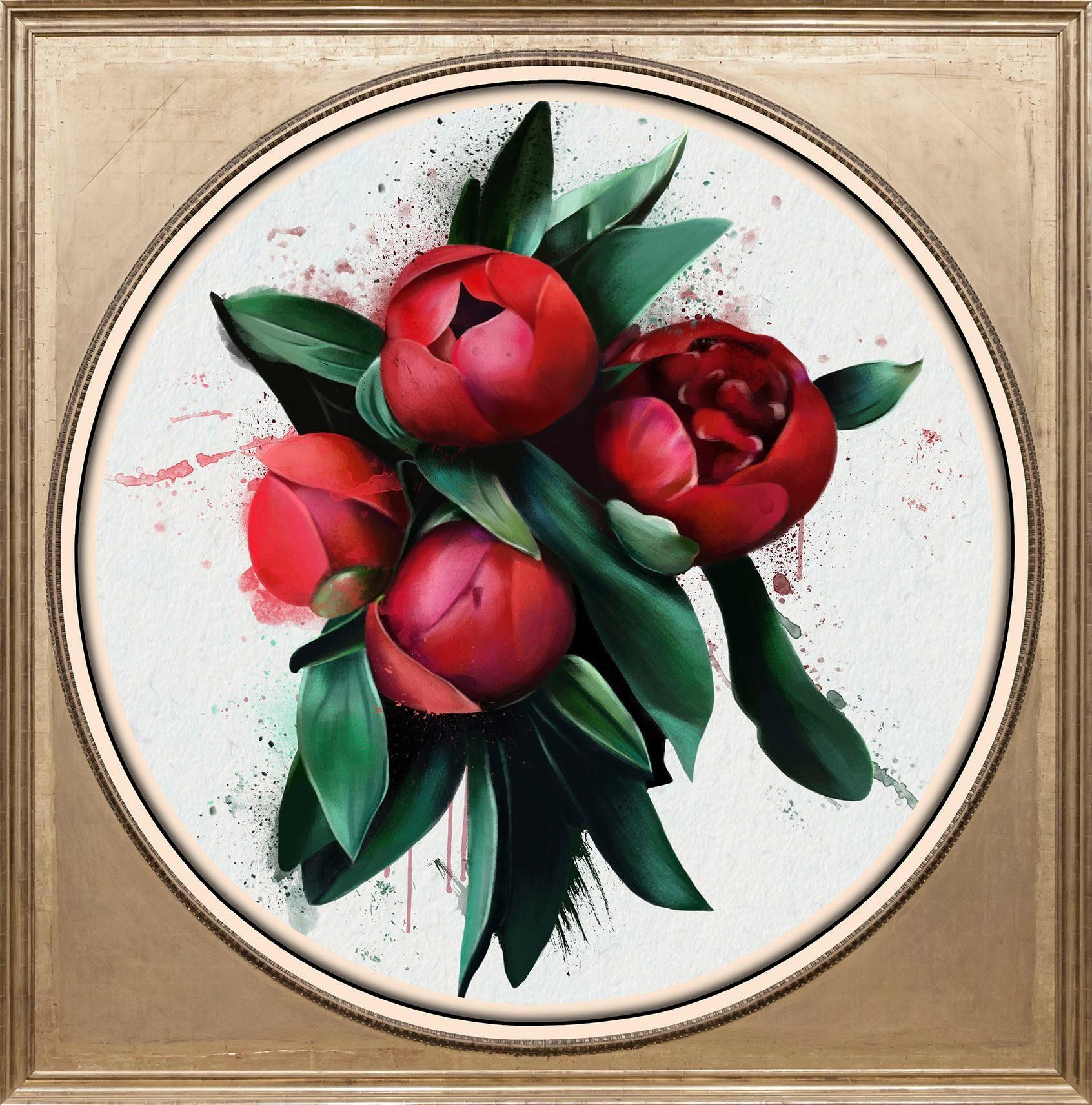 Acrylglasbild »Rote Blüte«