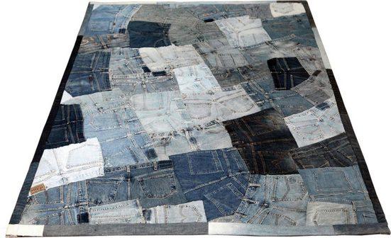 Teppich »Snotri«, SIT, rechteckig, Höhe 5 mm, Jeansflicken